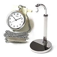 セイコー (SEIKO)懐中時計 オープンフェイス SAPP001と懐中時計用スタンド(シルバーカラー)のセット