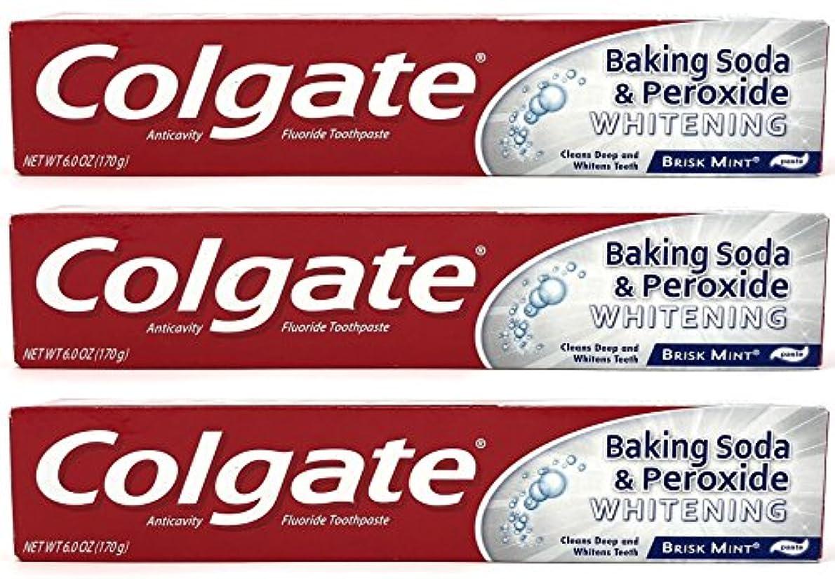 Colgate 重曹と過酸化物ホワイトニング歯磨き、好調ミント、6オズ(3パック)