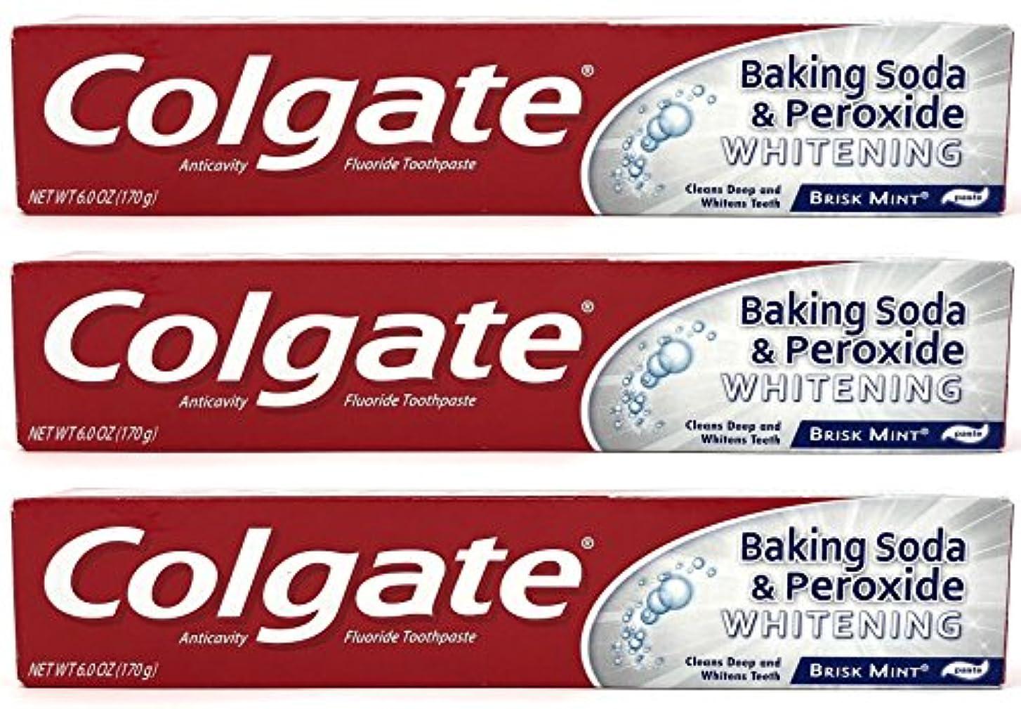 アウトドアエチケット予測Colgate 重曹と過酸化物ホワイトニング歯磨き、好調ミント、6オズ(3パック)
