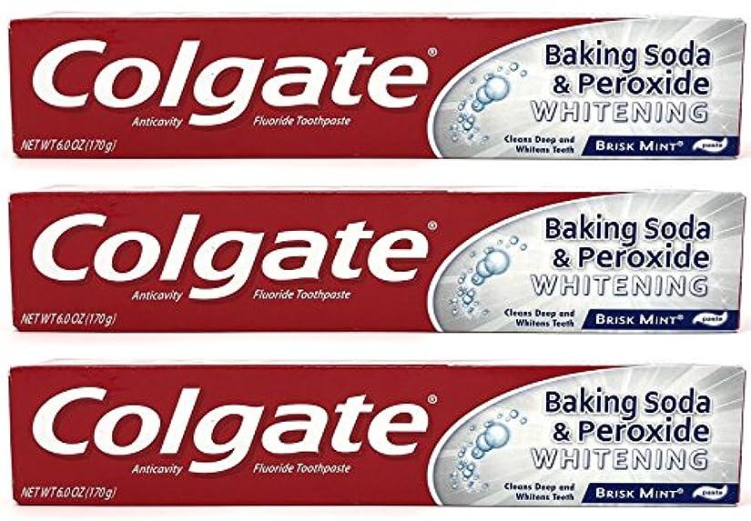 公使館連続的座るColgate 重曹と過酸化物ホワイトニング歯磨き、好調ミント、6オズ(3パック)