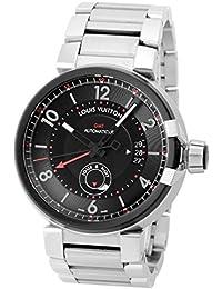 [ルイヴィトン] LOUIS VUITTON 腕時計 タンブール GMT エボリューション Q1156 SS ブラック [中古品] [並行輸入品]
