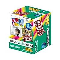 (まとめ) 富士フィルム FUJI 画彩 写真仕上げValue 光沢 L判 WPL300VA 1箱(300枚) 〔×2セット〕