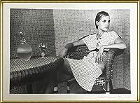 ポスター カール ラガーフェルド シャネル グイナビア・バン・シーナス Collection Croisiere 1996-1997/9 額装品 アルミ製ハイグレードフレーム(ゴールド)