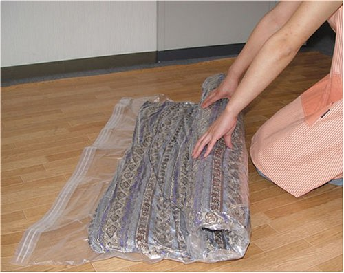 オリエント 羽毛ふとん圧縮袋 いたわり収納 まるめるタイプ 120×92cm