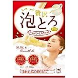 お湯物語 贅沢泡とろ 入浴料 クリーミーミルクの香り 1包・30g
