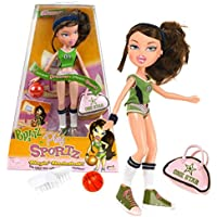 MGA Entertainment Bratz Play Sportz Series 25cm Doll - Blazin' Basketball Player DANA in 01 Green Outfit with Earrings, Basketball, Duffel Bag and Hairbrush