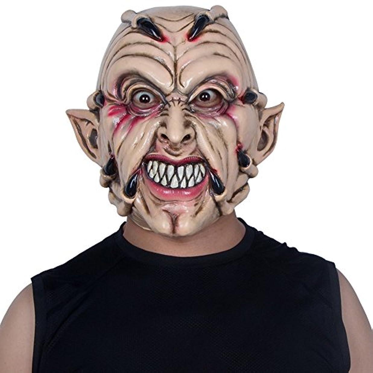 ランデブー自己一次ハロウィンマスクホラー大人の男性フルフェイスラテックスフードデビルゴーストクローダンスパーティー整頓怖い小道具