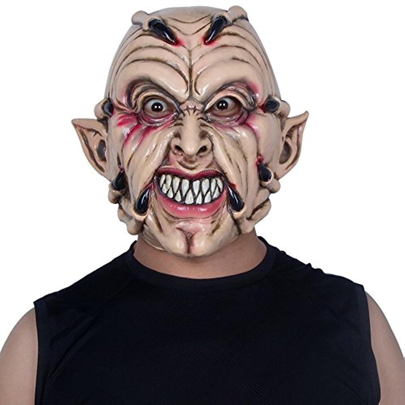 どきどきリネン看板ハロウィンマスクホラー大人の男性フルフェイスラテックスフードデビルゴーストクローダンスパーティー整頓怖い小道具