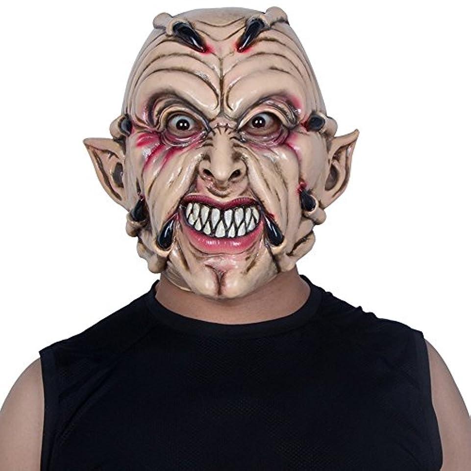 魅力的気をつけて圧倒するハロウィンマスクホラー大人の男性フルフェイスラテックスフードデビルゴーストクローダンスパーティー整頓怖い小道具