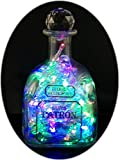 The Bottle upcycler Upcycled PatronテキーラMood Therapy LiquorボトルライトwithマルチカラーLED Topped with an Asfour 30%鉛クリアクリスタルプリズムボール