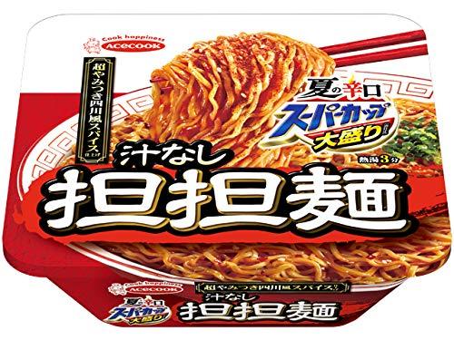 エースコック 夏の辛口 スーパーカップ大盛り 汁なし担担麺 超やみつき四川風スパイス仕上げ 158g