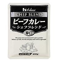 ハウス食品 ビーフカレーシェフブレンド辛口 200g×30/箱