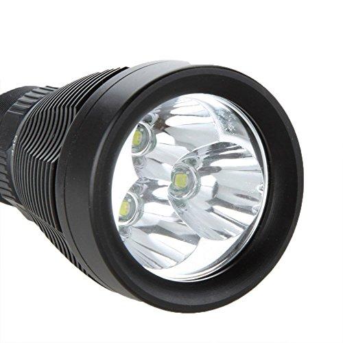 SUNSPOT LED ダイビングライト 水中ライト 3000LM 8-Mode T6 トーチライト 水深100mまでの圧力設計 充電器+1x 26650バッテリー付き!