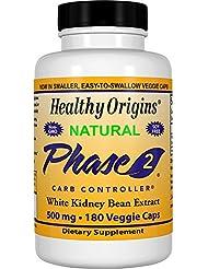 Healthy Origins Phase 2 炭水化物 コントローラ 500 Mg、180 ベジタリアン カプセル