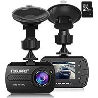 TOGUARD ドライブレコーダー 超小型ドラレコ 1080P 動き検知 Gセンサー 車載カメラ 防犯カメラ 16Gカード