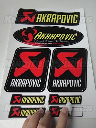 KUNGFU GRAPHICS カンフー グラフィックス AKRAPOVIC アクラポヴィッチ 排気ステッカーデカール サイレンサー レーシングスポンサーロゴ マイクロデカールシート (イエロー)