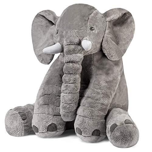 RoomClip商品情報 - 象のぬいぐるみ ふわふわなおもちゃ 像ゾウ ぬいぐるみ 子供達の為の柔らかい大きなギフト 60CM グレー