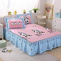 Zhiyuan 綿100%のベッドカバーと枕カバー2つセット 200x220x40cm、パンダベイビー