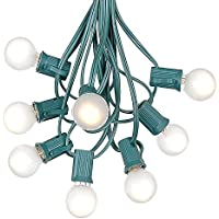 Amazon novelty lights g30 globe outdoor string lights with 25 frosted white globe bulbs by novelty lights commercial grade outdoor lights bulb string lights globe string mozeypictures Choice Image