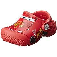 crocs Boys Fun Lab Cars Clog Comfort Shoes, Flame, 8 US