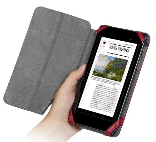 Chil Notchbookプレミアムレザーカバーfor Google Nexus 7第2世代–サンバレッド( 0112–0374)