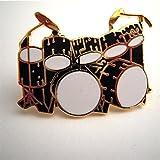 ダブル・ベース・ドラム (ツー・バス )  黒 ミニピン Double Bass Drum Set Mini Pin