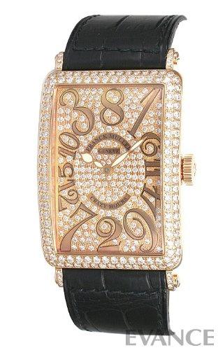 [フランク・ミュラー] FRANCK MULLER 腕時計 ロングアイランド クレイジーアワーズ 1200CHDCD 全面ダイヤモンド メンズ [並行輸入品]