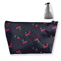さくらんぼ ペンケース文房具バッグ大容量ペンケース化粧品袋収納袋男の子と女の子多機能浴室シャワーバッグ旅行ポータブルストレージバッグ