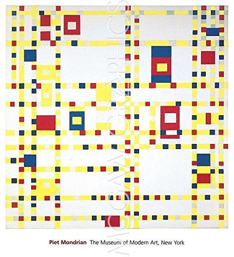 Piet Mondrian ? ブロードウェイブギウギ ファインアート プリント (27.94 x 35.56 cm)