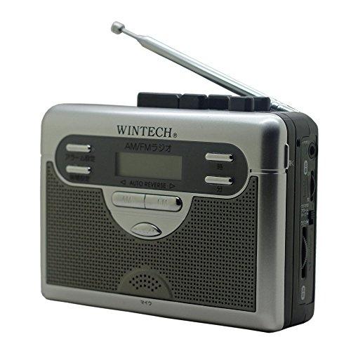 WINTECH ラジオ付テープレコーダー(FMワイド対応) シルバー オートリバース PCT-11R2