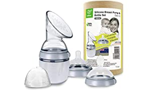 Haakaa Generation 3 Silicone Breast Pump 100% Food Grade Silicone BPA PVC and Phthalate Free (160ml, Grey)