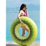 Jasonwell キウイ浮き輪 浮き輪 プール 海 夏の日 プール パーティー 成人 子供 大人用 子供用 浮き輪 飾り おもちゃ(キウイ)