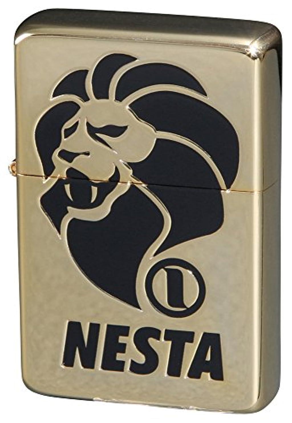 コンチネンタル番号川NESTA BRAND(ネスタブランド) オイルライター ロゴ 金メッキ DXN-LOG