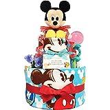 おむつケーキ ディズニー ミッキー 出産祝い 男の子 2段 3001(出産祝い)