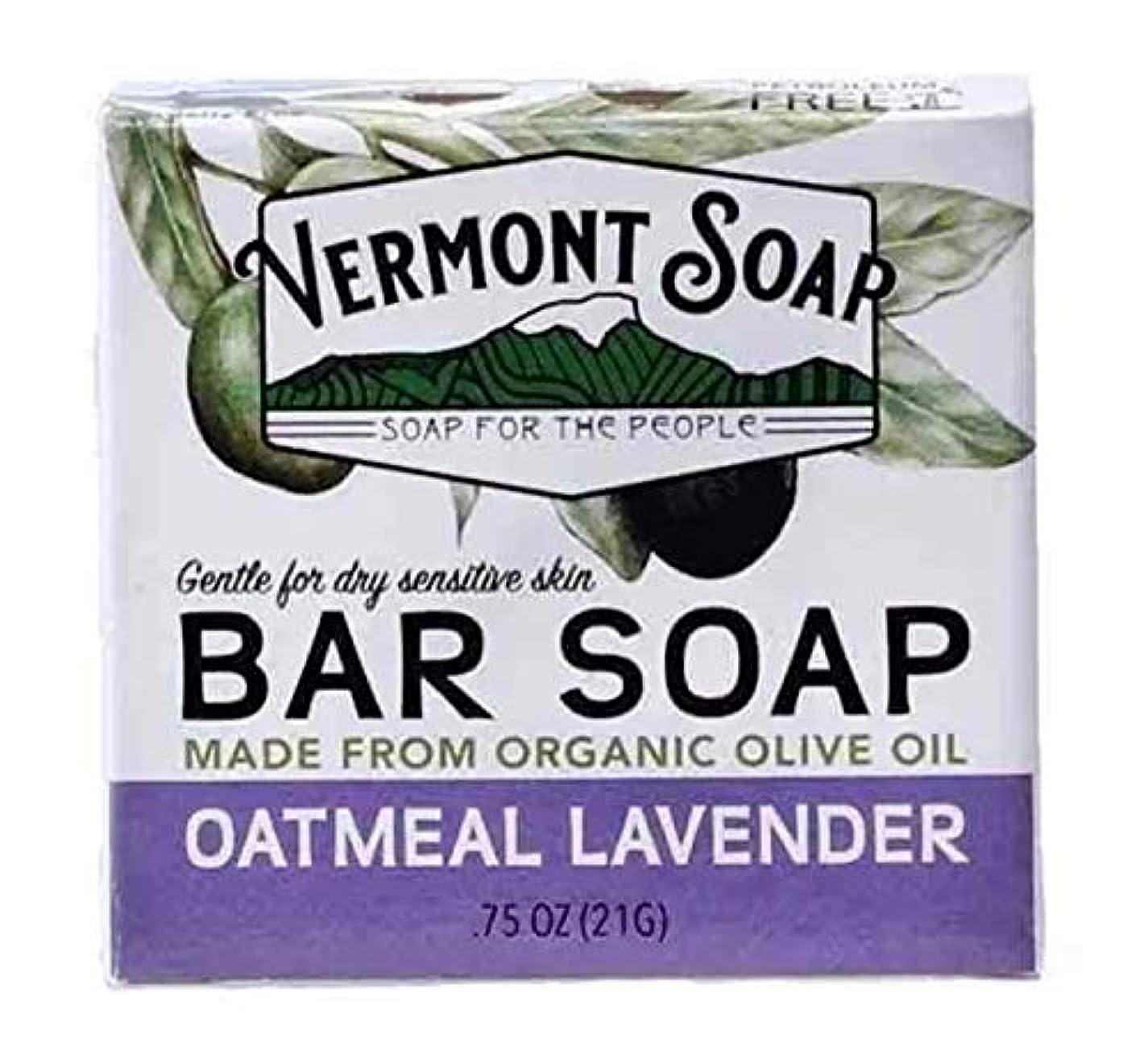 お尻伝染性の飲料バーモントソープ トラベルサイズ (オートミールラベンダー) オーガニック石鹸 洗顔 21g