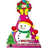 HuaQingPiJu-JP 幼稚園クリエイティブシーンの飾り雪だるまパターンハット_Rose赤