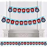 Big Dot of Happiness Railroad Party Crossing - Steam Train Birthday Party Bunting Banner - Birthday Party Decorations - Happy Birthday