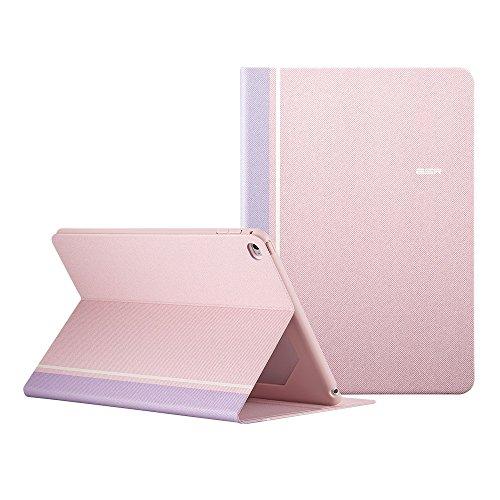 iPad Mini4 ケース レザー 合皮 ESR iPad Mini4 カバー 軽量 シンプル スエード柔らかな内側 スタンド機能 オートスリープ スリム 傷つけ防止 二つ折 iPad Mini4 スマートカバー (薄桜色)