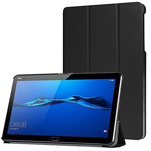 AVIDET MediaPad M3 Lite 10 ケース 超薄型 最軽量スタンド機能付 M3 lite 10 ケース(Huawei 10.1インチ M3 lite 10 ブラック)