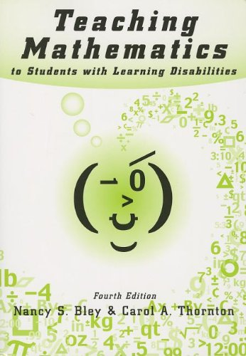 Download Teaching Mathematics to Students With Learning Disabilities 0890798575