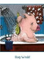 tree-free Greetings Hog Wash面白い誕生日カード、2カードセット、マルチカラー( 10881)