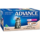 Advance Kitten Chicken and Salmon Meadley Food, 7 Piece