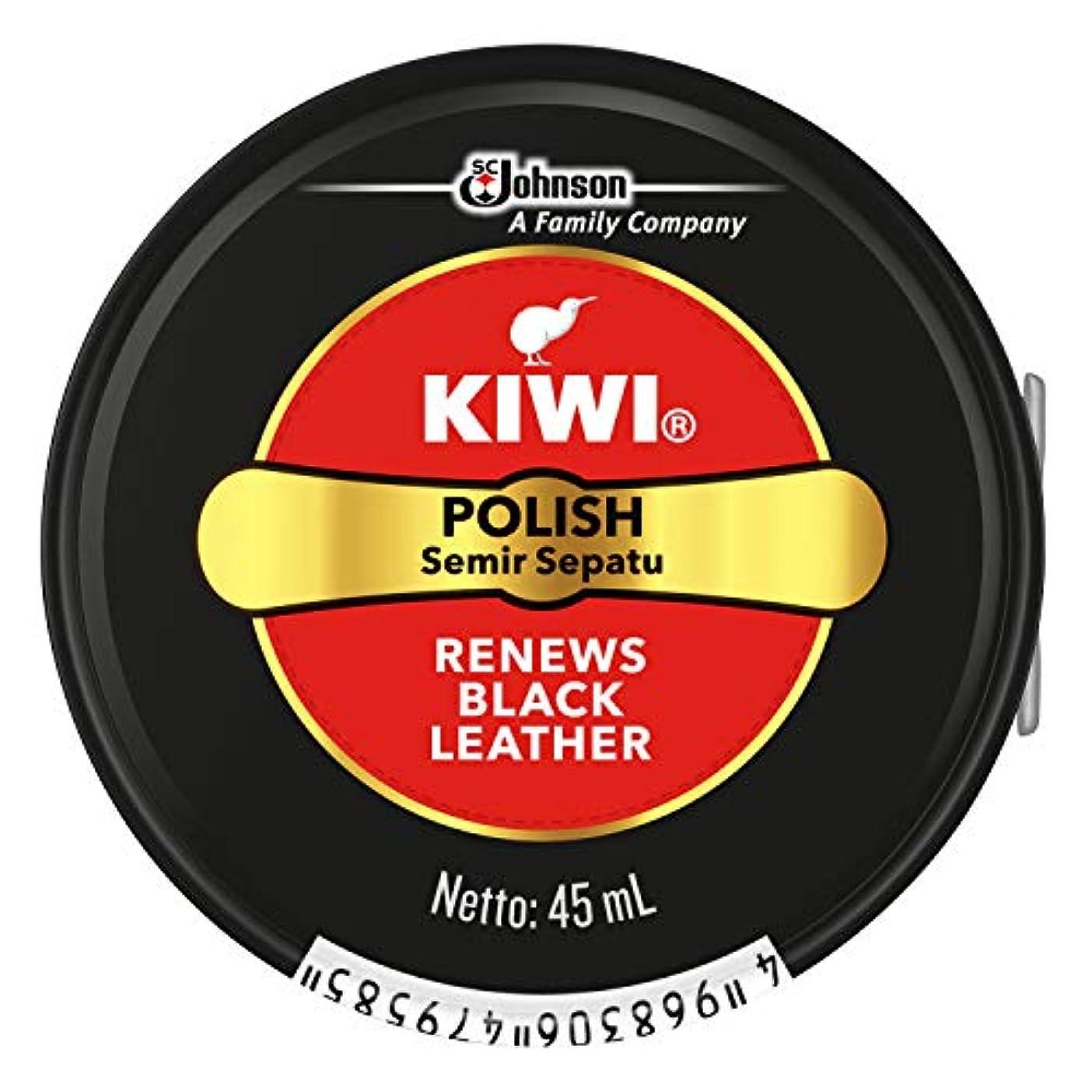マグ気づかない振る舞いKIWI 油性靴クリーム 黒用 45ml