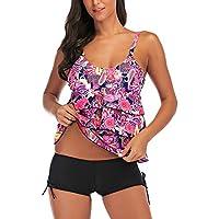 RONSHIN Bikini for Women Large Size Floral Printing Boxers Top Bikini Set for Swimming