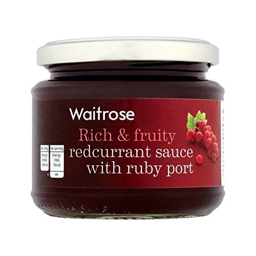 ルビーポート215グラムとレッドカラントソース (Waitrose) (x 2) - Redcurrant Sauce with Ruby Port Waitrose 215g (Pack of 2)
