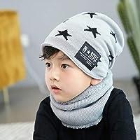 Fashion Autumn Winter Children's Hat Scarf Set Thick Warm Knit Hat for Boy Girl