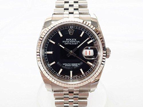 ROLEX(ロレックス)デイトジャスト 116234 ランダム 黒文字盤 中古 腕時計