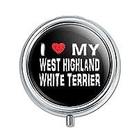 I 愛私のウエストハイランド白テリアスタイリッシュピルボックス