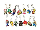 HERMES バッグ 14 pcs Super Mario Brothers # 2 Zipper Pull Charms Jacket Backpack Bag Pendant