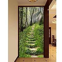 Ansyny カスタム3D写真壁紙森の日差しのパス写真画像リビングルームポーチ背景壁不織布壁紙用壁-360X250CM